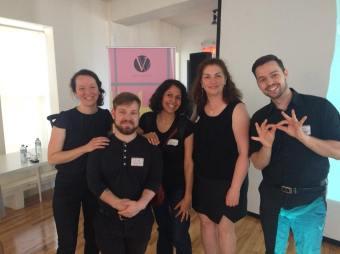 La super équipe des interprètes LSQ pour la communauté sourde - crédit photo > Marie-Andrée Boivin